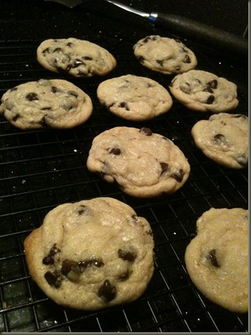 Chocolate chip chewy cookies