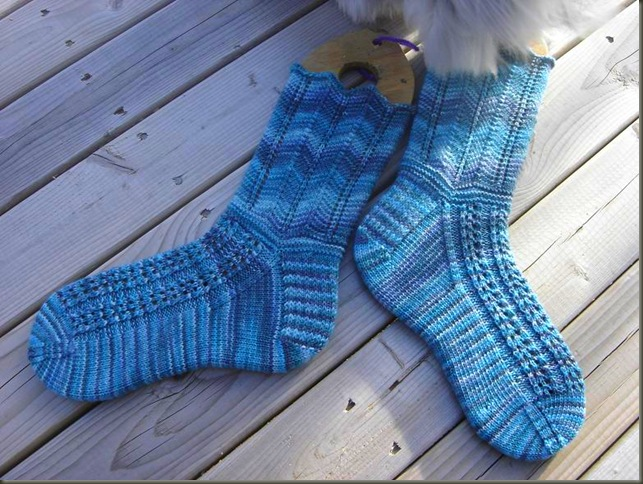 Della Socks finished 2