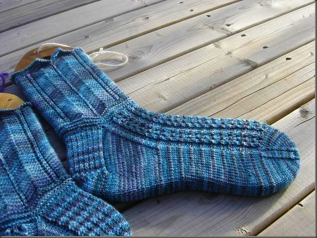 Della Socks finished 4
