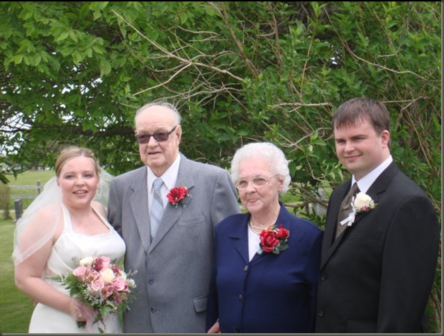 Grammy and Grampy and us Wedding