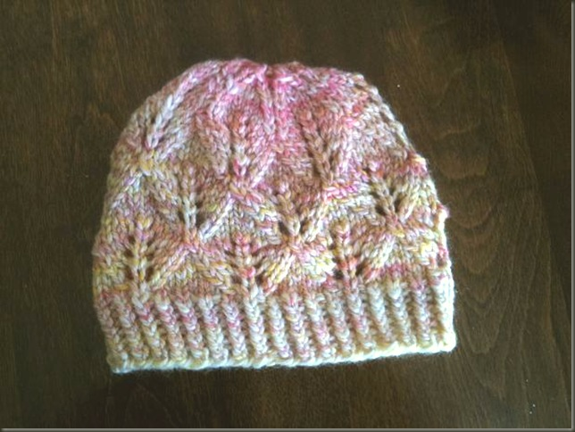 Leaf Lace Hat Handspun