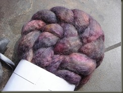 Purple Butterfly BFL Silk Braid