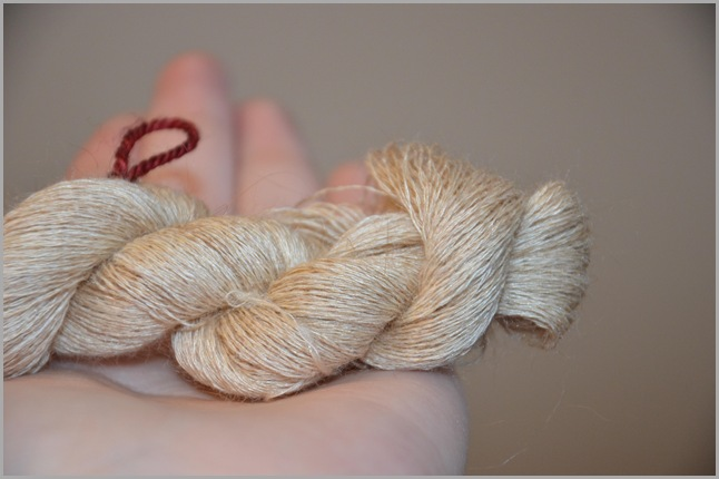 Silk and Satin Angora Skein Glamour Shot