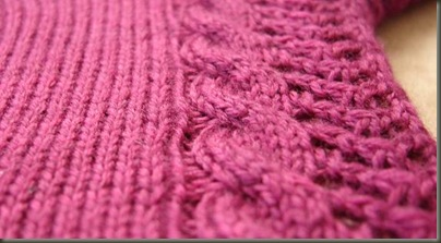 bordeaux cable and lace