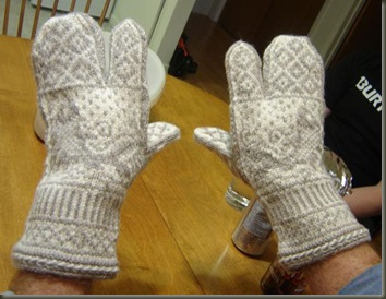 dad's fishy mitts on back