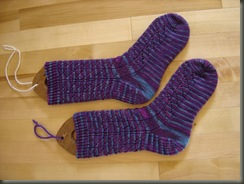 diagonal lace socks 4
