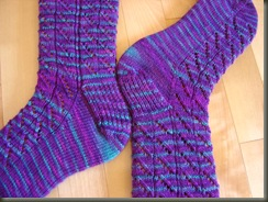 diagonal lace socks1