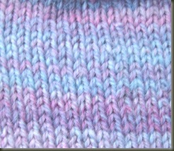 diagonal stockinette