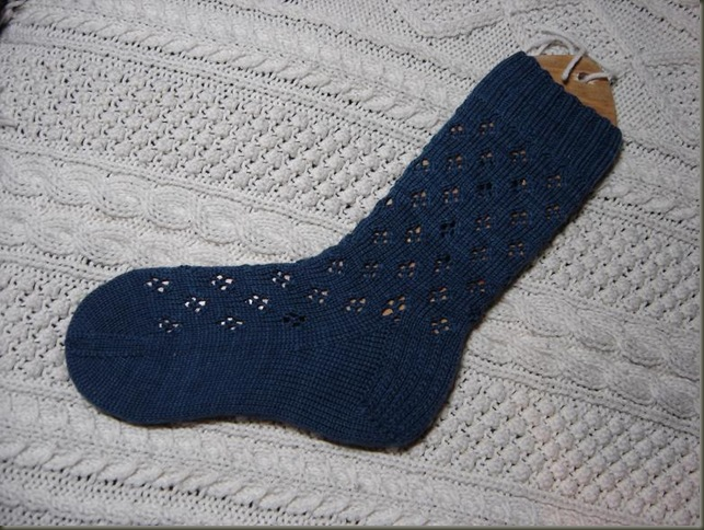 finished sock 1