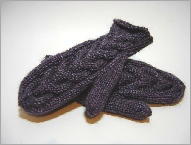 lavender pewter mittens