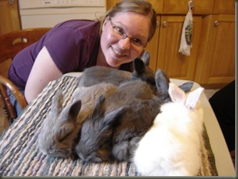 me and all 5 bunnies