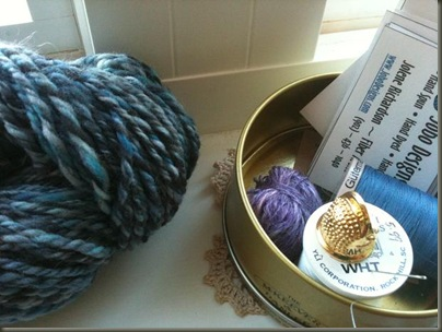 notions and Christys yarn