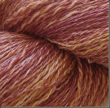 persimmon seasilk wool handspun